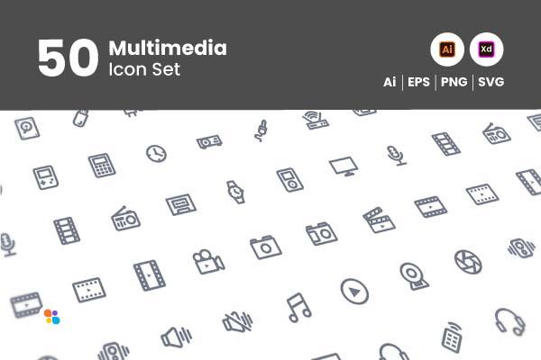 50-multimedia-icon-set-git-aset