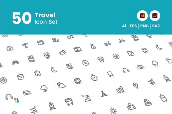 50-travel-icon-set-git-aset