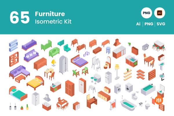 git-aset_65-furniture-isometric