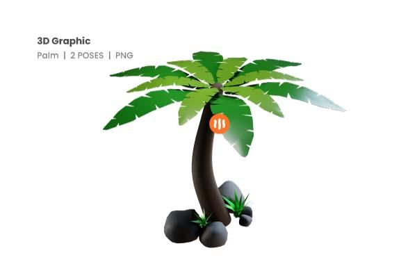 Git-Aset_02-palm-tree-3d