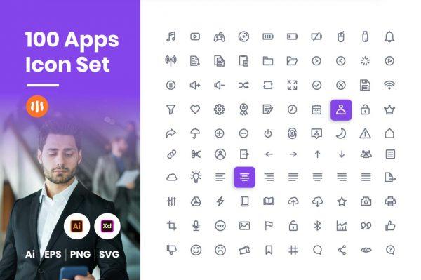 100-apps-icon-set-git-aset