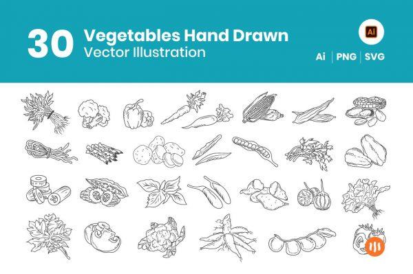 30-Vegetables-Hand-Drawn-Git-Aset