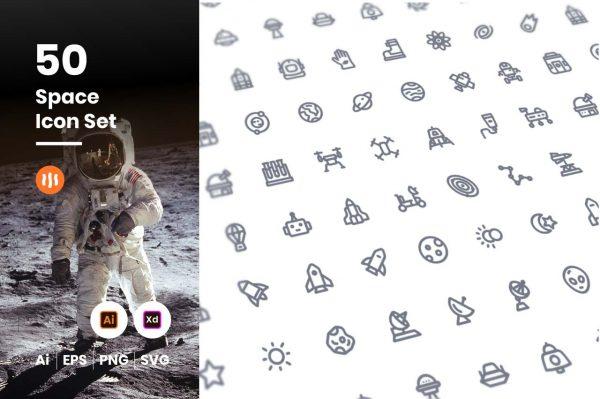 50-Space-Icon-Set-Git-Aset