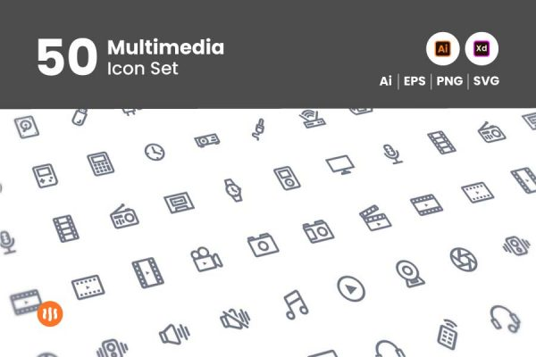 50-multimedia-icon-set-git-aset