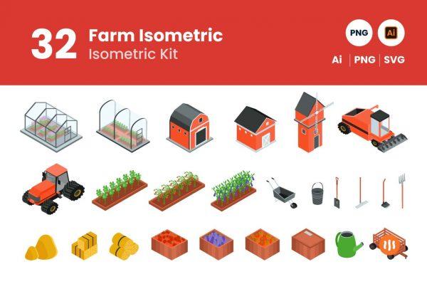 Git Aset Farm Isometric
