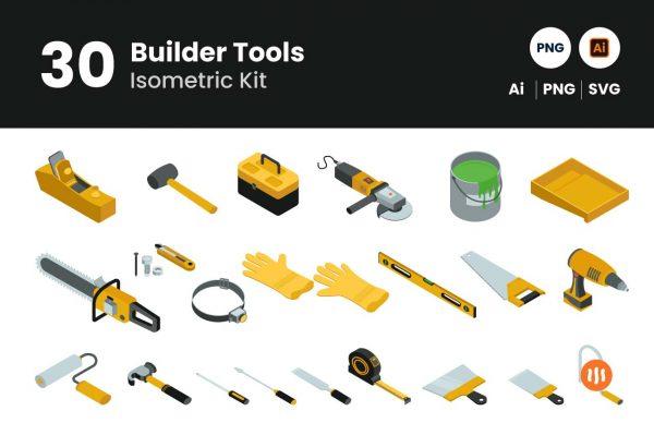 Git-Aset_30-builder-tools-isometric