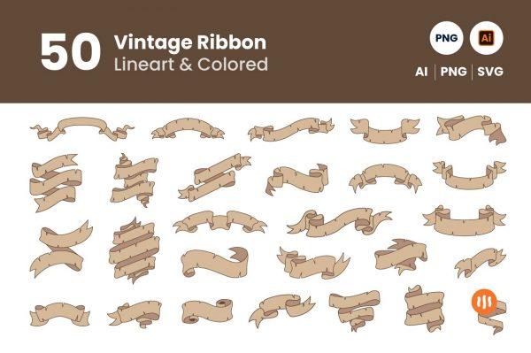 Git-Aset_50-Vintage-Ribbon