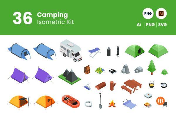 Git-Aset_Camping-Isometric