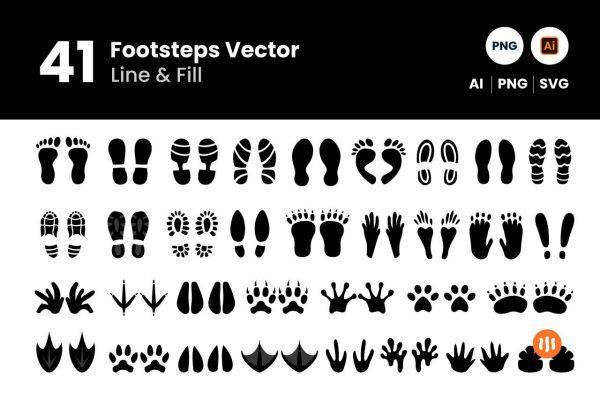 Git-Aset_Footsteps-Lineart