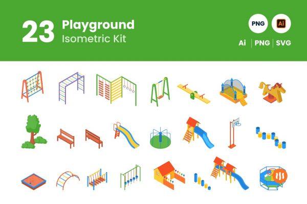 Git-Aset_Play-Ground-Isometric
