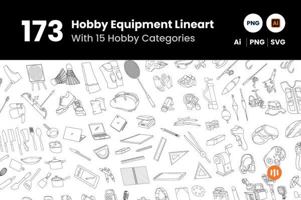 git_aset_173-Hobby-Equipment-Lineart