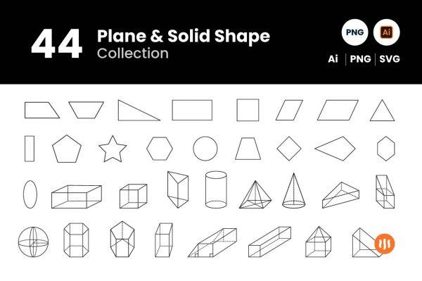 git_aset_44-Plane-&-Solid-Shape