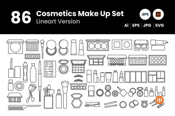 git_aset_86-Cosmetics-Make-Up-Set-Lineart
