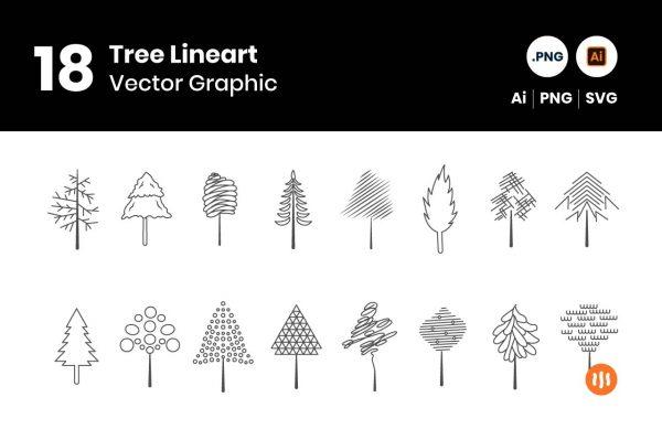 gitaset_18-Tree-Vector
