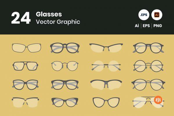 gitaset_24-glasses-vector
