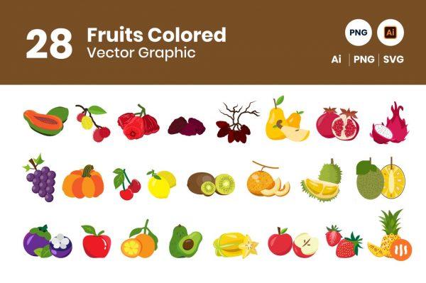 gitaset_28-fruits-vector-colored