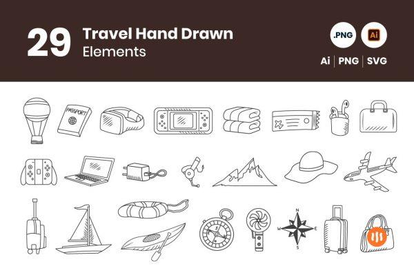 gitaset_29-Travel-Hand-Drawn