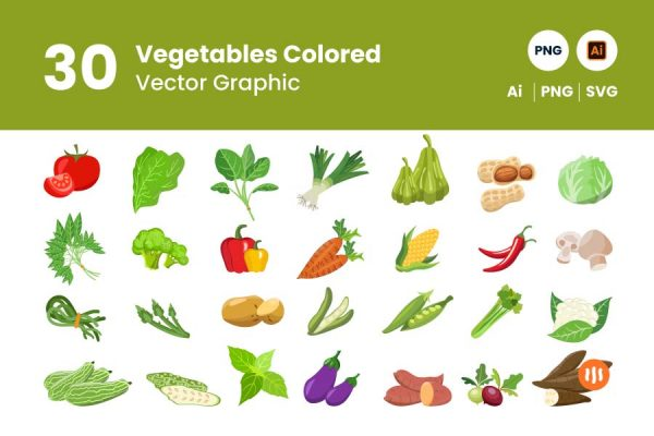 gitaset_30-vegetables-vector-colored