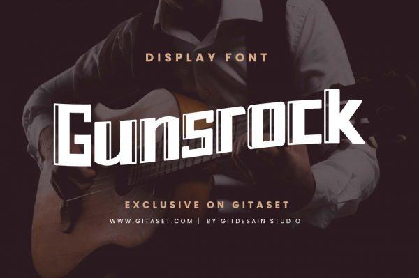 gunsrock-font-git-aset